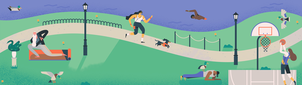 Google Calendar Illustration Keywords : Google goals owen davey illustration