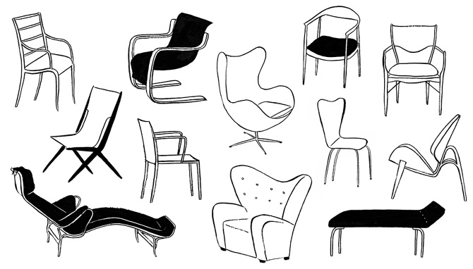 Iconic Scandinavian Mid Century Chairs, For Curbed.com