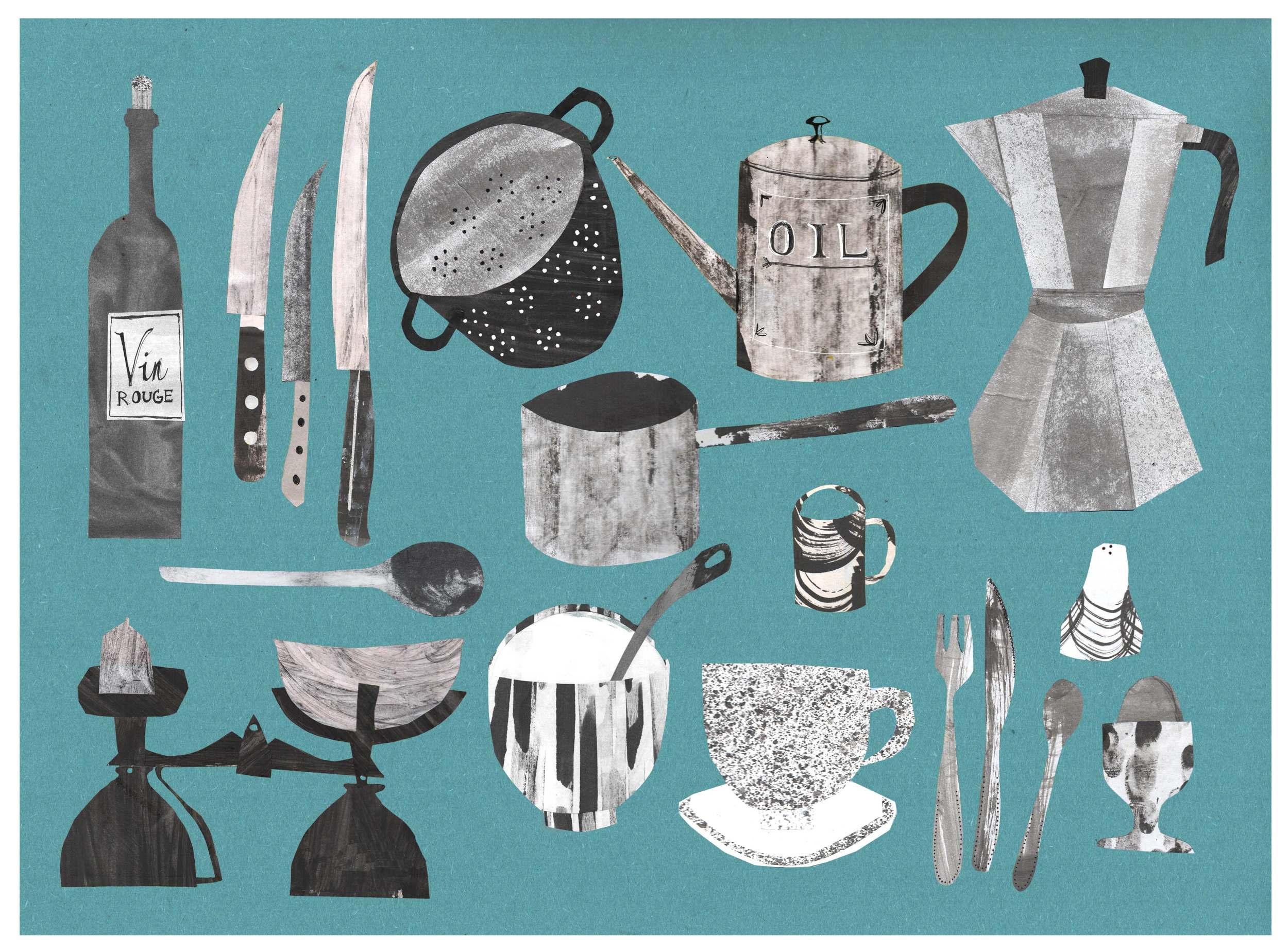 Kitchen collage - Alice Newman | Illustration & Printmaking